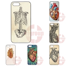 Hard Skin Phone VINTAGE MEDICAL ANATOMICAL HEART DIAGRAM For Apple iPhone 4 4S 5 5C SE 6 6S 7 7S Plus 4.7 5.5 iPod Touch 4 5 6