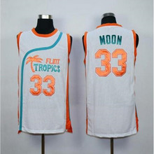 Jackie Moon Flint Tropical Throwback Jerseys 33# 7# 11# Basketball Movie Jersey Cool Shirt Stitched Jersey Man White Green
