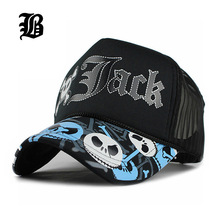 [FLB] Unisex JACK Baseball Cap Breathable Summer Skull Cap with Mesh Casual casquette Trucker Hat Adjustable Snapback Hats