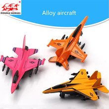 Free delivery boy gifts children alloy mini aircraft warrior simulation model airplane military fighter boy Christmas gift(China)