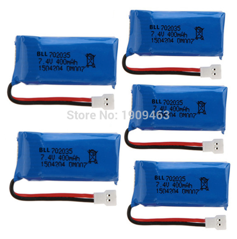 5Pcs Upgraded 400mAh 30C Lipo Battery 7.4V 2S for DM007 RC Quadcopter Part<br><br>Aliexpress