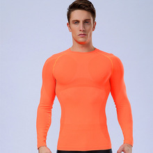 Brand Men's Thermal Underwear Men Winter Long Sleeves Top T-Shirt Soft Elastic Based Compression Underwear Men Fitness Clothes(China)