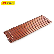 Universal 200mm PH2 Screw Driver Bit 10 PCS Magnetic Screwdriver Tip S2 Alloy Steel Brown Repair Hand Tool Phillips Drill Set