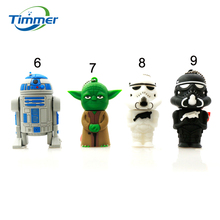 Star Wars Darth Maul/black/white Vader R2D2 Robot Boba Yoda USB Flash Drive/U Disk/Creativo Pendrive/Memory Stick/Gift 128mb 8gb