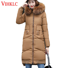 VIHKLC Winter Jacket Women 2017 Winter Wear High Quality Parkas Winter Jackets Outwear Women Mid Long Coats  H199