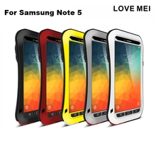 LOVE MEI Armored Hybrid Cover Waterproof Case for SAMSUNG Galaxy S3 S4 S5 S6 S7 Edge Plus Note 3 5 4 Edge A3 A5 A7 A9 Alpha Case(China)