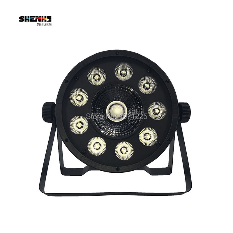 Fast Shipping LED Fat Par 9X10W+1X30W Led Light RGB 3IN1 7 DMX LED Stage Light Powered Led Flat Par Professional For Party Disco<br>