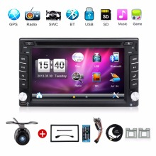 Universal Car DVD autoradio 6.2 Inch Touch Screen 2 DIN IN-DASH Radio Stereo With GPS Navigation Bluetooth SD/USB Car Styling