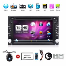 Universal Car DVD autoradio 6.2 Inch Touch Screen 2 DIN IN-DASH Radio Stereo With GPS Navigation Bluetooth SD/USB Car Styling(China)