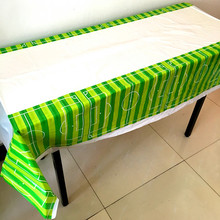 1pcs/lot football tablecloths kids birthday wedding party supplies football table cover happy birthday party supplies(China)