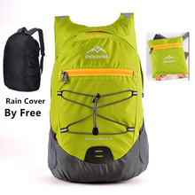 Men Women Travel Casual Foldable Backpack With Rain Cover Light Weight Bicycle Folding Backpacks Daypack