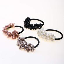 4PCS New Hair Accessories Pearl Elastic Rubber Bands Headwear For Women Girl Ponytail Holder Scrunchie Ornaments Jewelry