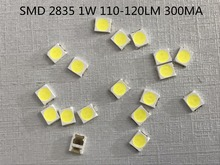105pcs/ SMD LED 2835 Chip 1W 3V 300mA White warm 110-120LM Ultra Bright 1Watt Surface Mount PCB LED Light Emitting Diode Lamp