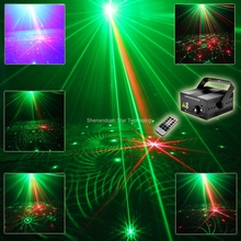 ESHINY Mini R&G 48 Patterns Laser Projector Blue Led Gobo Remote DJ lighting Disco Xmas Dance Party Stage Light Show N75L48(China)