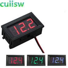 Digital Voltmeter DC 4.5V to 30V Digital Voltmeter Voltage Panel Meter Red/Blue/Green For 6V 12V Electromobile Motorcycle Car(China)