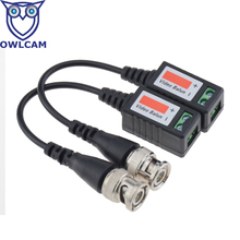 Camera Partner Coax CAT5 Camera CCTV BNC Video Balun Transceiver B202 20pcs/lot Free Shipping(China)