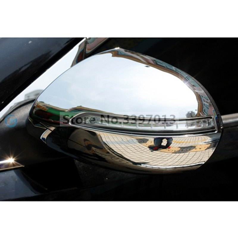 ABS Chrome Rearview Side Mirror Cover Trim 2pcs For Kia Sportage 2011-2014