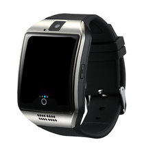 SmartWatch New Q18 Passometer Smart watch with Touch Screen Camera TF card Bluetooth Smartwatch for Android IOS Phone Men Watch(China)
