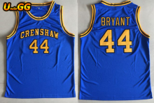 Uncle GG 2018 Embroidery Stitched #44 BRYANT Jersey Crenshaw High School Movie Love College Basketball Jerseys Throwback(China)