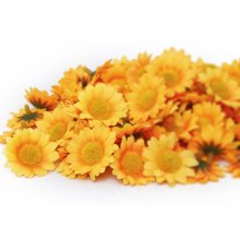Boutique  Approx 100pcs Artificial Gerbera Daisy Flowers Heads for DIY Wedding Party