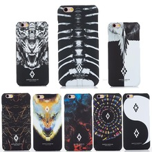 2017 New For iPhone 6 Marcelo Burlon Cover Skull Tiger Wing PC Funda Case For iPhone 6 6S 7 Plus 5SE Marcelo Cover Phone Coque