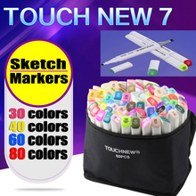 art supplies 30/40/60/80 Artist Double Headed Marker Set Mark Pen manga Animation Design Paint Sketch Copic Markers for Drawing