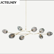 NEW Lindsey Adelman 8 Globe Glass Annular Modern,Contemporary Chandelier,Lamp,Pendent,Lightr  +Edison light bulb