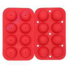 8-Hole Silicone Ball Lollypop Silicone Bakeware Fondant Chocolate Candy Mold