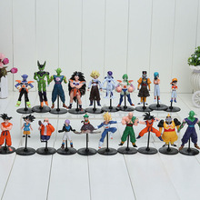 20pcs/set Dragon Ball Z GT Action Figures Crazy Party 10CM PVC Dragonball Figures Best Gift