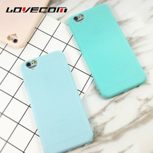 For iPhone 5 5S SE 6 6S 6Plus 6SPlus Summer  Candy Color Soft Sillicon Phone Back Cover with Heart Camera Hole Phone Cases