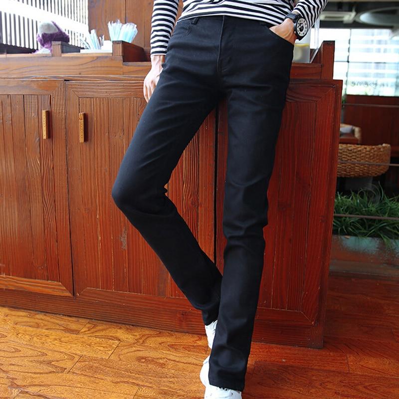 Fashion Men Jeans 2017 Stretch Male Clothing Pencil Pants Black Long Denim Trousers Gentleman Slim Fitness Straight Jeans z5Одежда и ак�е��уары<br><br><br>Aliexpress