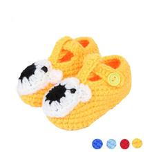 Handmade Knit crochet baby shoes Infant winter baby shoes newborn shoes toddler sapatos First Walkers infantis Crystal(China)