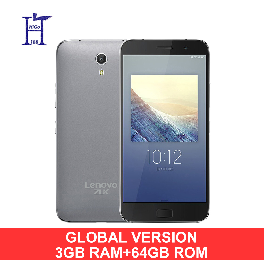 "Original Lenovo ZUK Z1 3G RAM 64G ROM Global Version Quad Core Snapdragon 801 LTE 4G 4100mAh 5.5 "" 13.0MP Mobile Phone(Hong Kong)"
