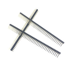 Hot Koop 10 stks 40 Pin 1x40 Rij Mannelijke 2.54mm Breekbare Pin Header Haakse Connector Strip buigen(China)