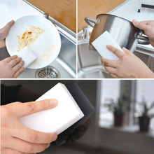10 x6x 2cm 50PCS Magic Dish Cleaning Nano Sponge White Sponge Eraser Melamine Cleaner Multi-Functional