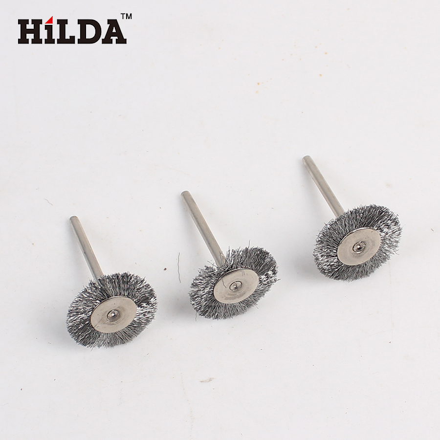 3pcs Steel Wire Wheel dremel wire Brush deburring for drill tools Wheel burr abrasive head dremel tools accessories T-shape<br><br>Aliexpress