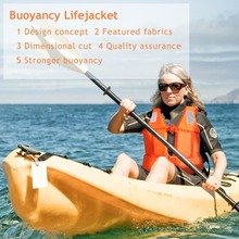 Adult Foam Swimming Buoyancy Aid Sailing Kayak Life Jacket Vest+Whistle For Outdoor Swimwear Water Sport Swimming DriftingOrange(China)