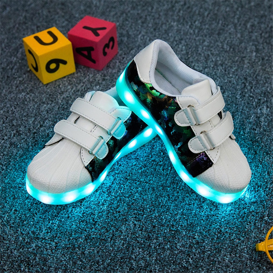 Boys And Girl Led Luminous Sneakers With Flashing Lights Luminous Shines Shoes Usb Breathable Led Sneakers For Kids 50Z0083<br>
