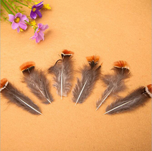 20 pcs High Quality Natural Lady Amherst Pheasant Feathers 80mm Decorative DIY Red Head Piece(China)