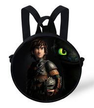 2015 Hot How to Train Your Dragon Round Backpack Children Cartoon Bags Kids Backpack For Primary School Girls Boy Travel Daypack