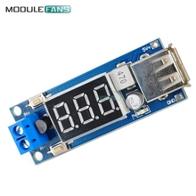 USB Charger LED Step-down Buck Converter Voltmeter Module Low Power DC 4.5-40V To 5V 2A High Efficiency Low Ripple