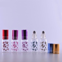 100 x 5ml Frosting Essential Oil Steel Roller Bottle Butterfly Printing Roll-on Perfume Bottles Wholesale