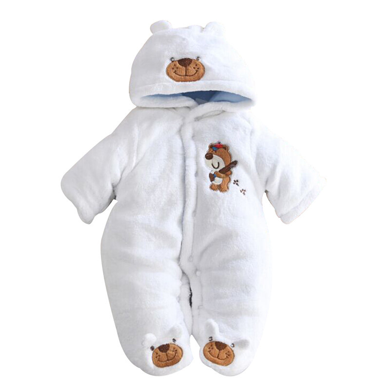 Newborn Infant Baby Boys Girls Rompers Cartoon Hooded Winter Baby Clothing Outfits Jumpsuit Clothes<br><br>Aliexpress