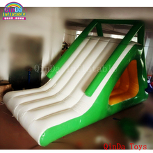 2017 summer fuuny games 5m long inflatable slides for children in pool ,cheap inflatable water slides for sale