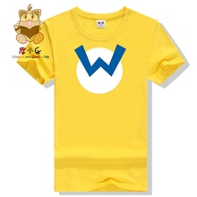 Super mario party characters Waluigi Wario mario Luigi cotton tee shirts high quality game tee shirts