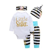 baby dress child fashion 2017 autumn winter new suit 4 sets of children's comfortable cotton underwear package set hot batch(China)