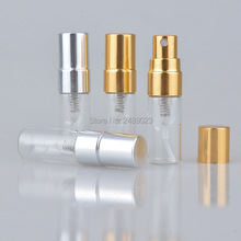 3ml Refillable Portable Mini Glass Perfume Bottle &Traveler Aluminum Spray Atomizer Empty Perfumer Bottles 20pcs/lot