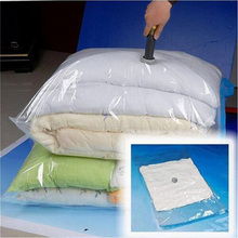 2017 Hot Vacuum Bag Storage Bag Transparent Border Foldable Extra Large Compressed Organizer Saving Space Seal Bags(China)