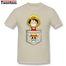 One Piece Luffy Shirt Men Boy Design Short Sleeve Crewneck Cotton Plus Size Group Pirate Luffy Shirts