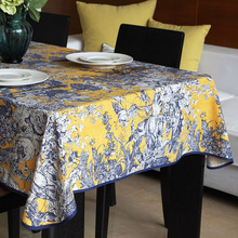 Luxury Noble Bohemian Linen Cotton Table Cloth Lace Edge Retro Tea Tablecloth Rectangular Manteles Hotsale Table Cover